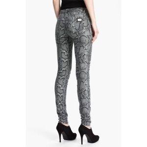 Michael Kors snake print skinny jeans